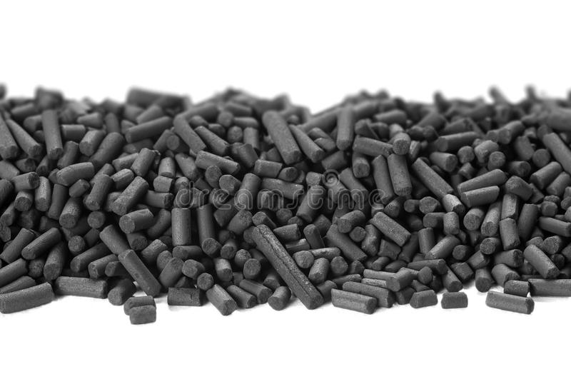 Зерна активированного угля стоковое изображение rf
