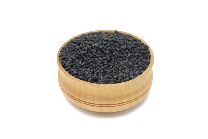 Зерна активированного угля стоковая фотография rf