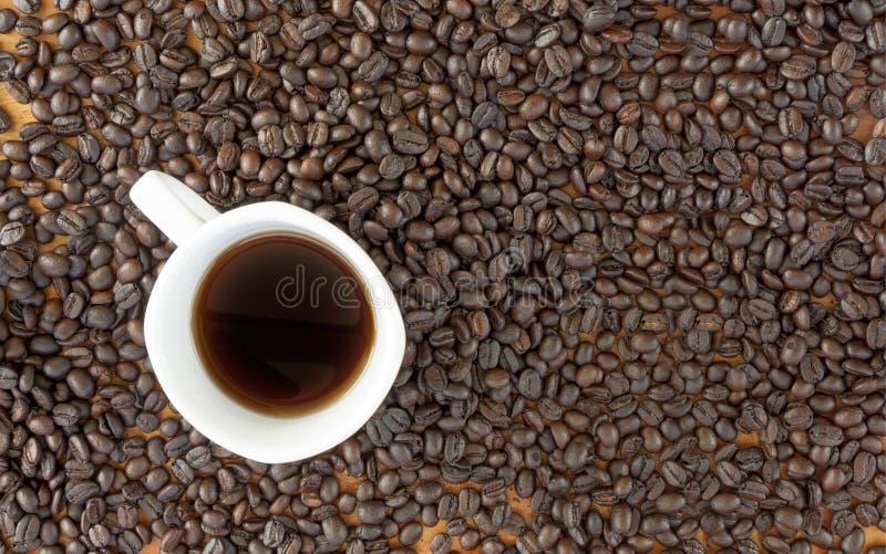 Зерно и чашка кофе стоковые фотографии rf