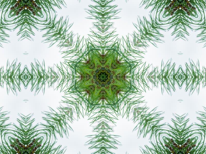 Зеленая абстрактная предпосылка калейдоскопа иллюстрация вектора