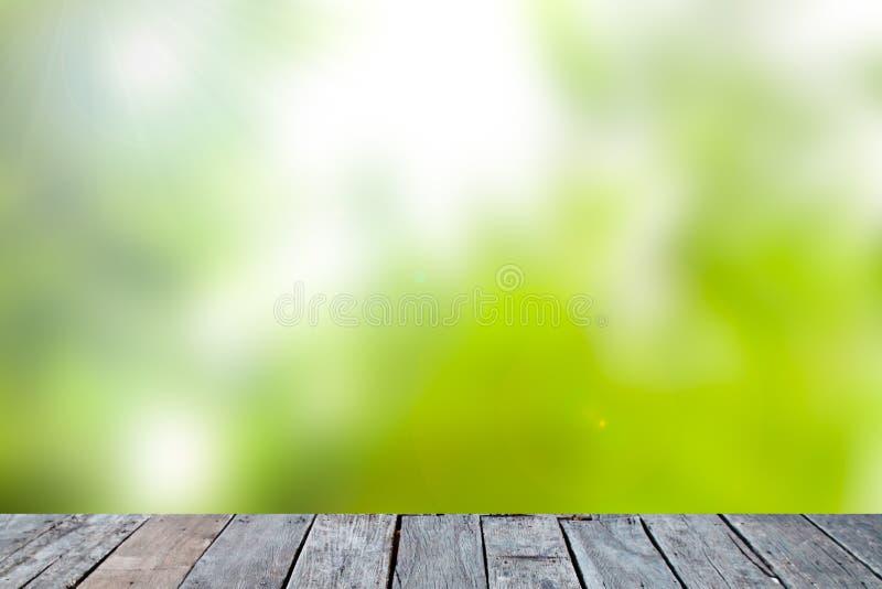 Зеленая абстрактная предпосылка природы нерезкости стоковое фото rf