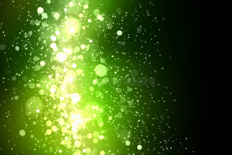 Зеленая абстрактная светлая предпосылка бесплатная иллюстрация