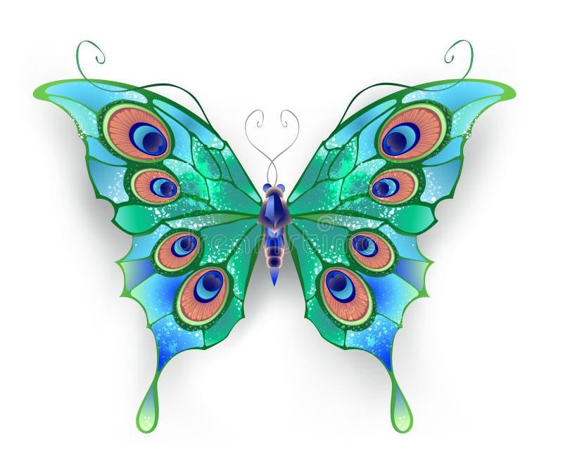 Зеленая бабочка иллюстрация вектора