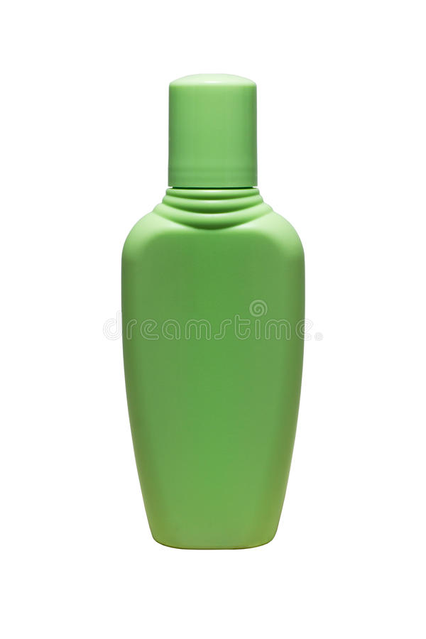 Зеленая бутылка трубки шампуня, проводника, rinse волос, изолированного геля стоковое фото rf