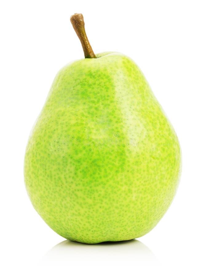Зеленая груша изолированная на белой предпосылке стоковая фотография