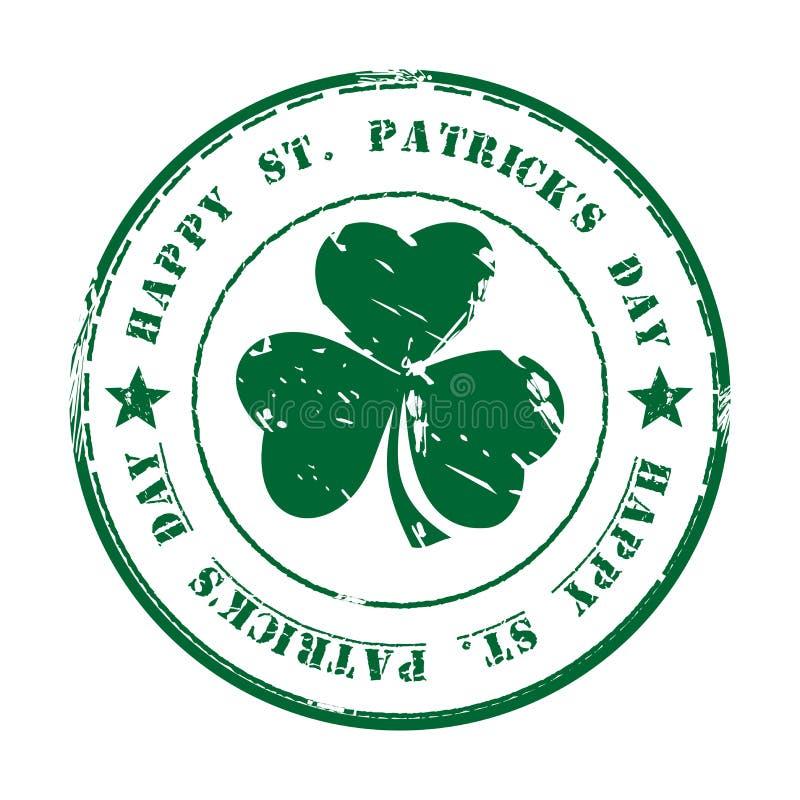 Зеленая избитая фраза grunge st patricks дня счастливый иллюстрация штока