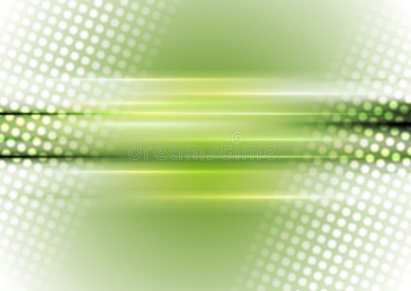 Зеленая и белая абстрактная сияющая предпосылка иллюстрация штока