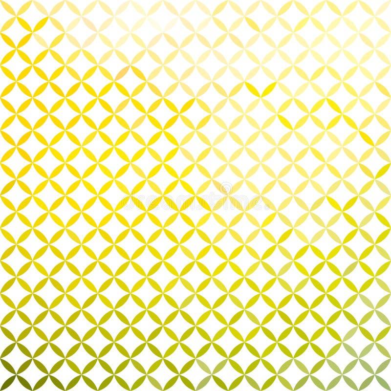 Зеленая и желтая minimalistic предпосылка иллюстрация вектора
