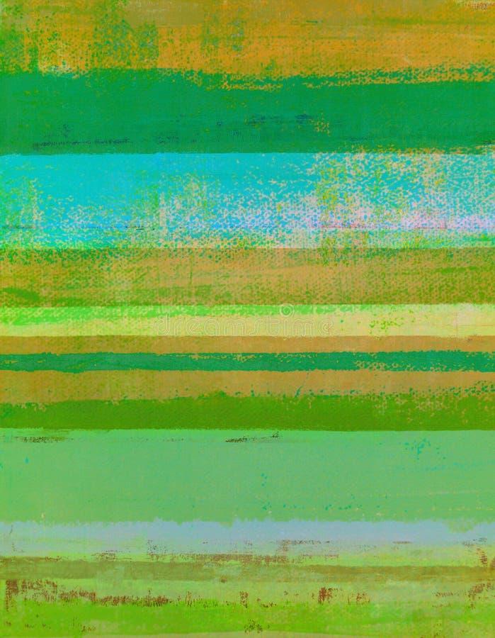 Зеленая и оранжевая картина абстрактного искусства стоковое фото rf