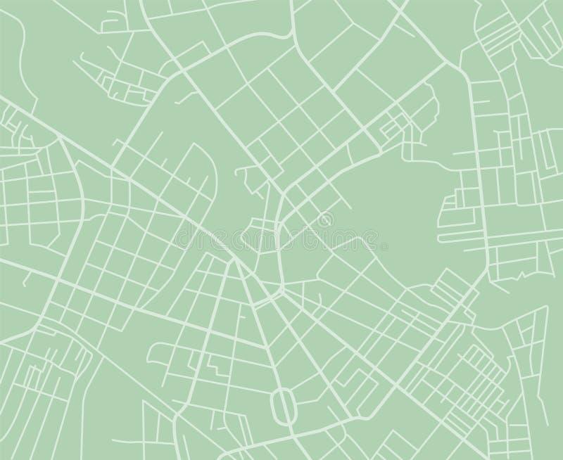 Зеленая карта вектора иллюстрация штока