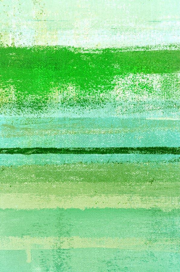 Зеленая картина абстрактного искусства стоковые фотографии rf