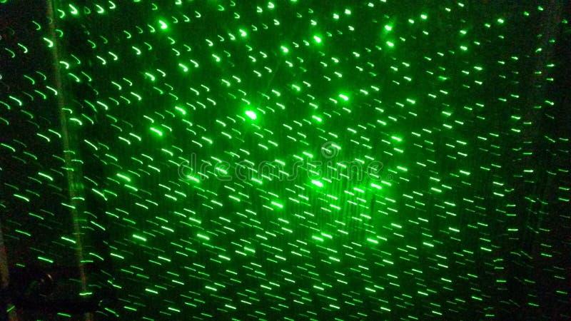 Зеленая картина лазера стоковое изображение