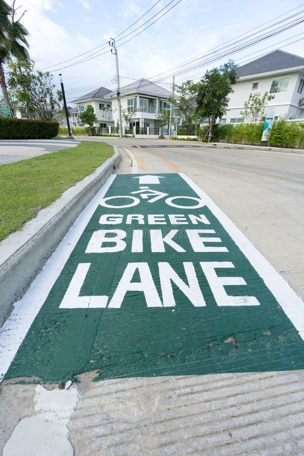 Зеленая картина пути майны велосипеда стоковые изображения