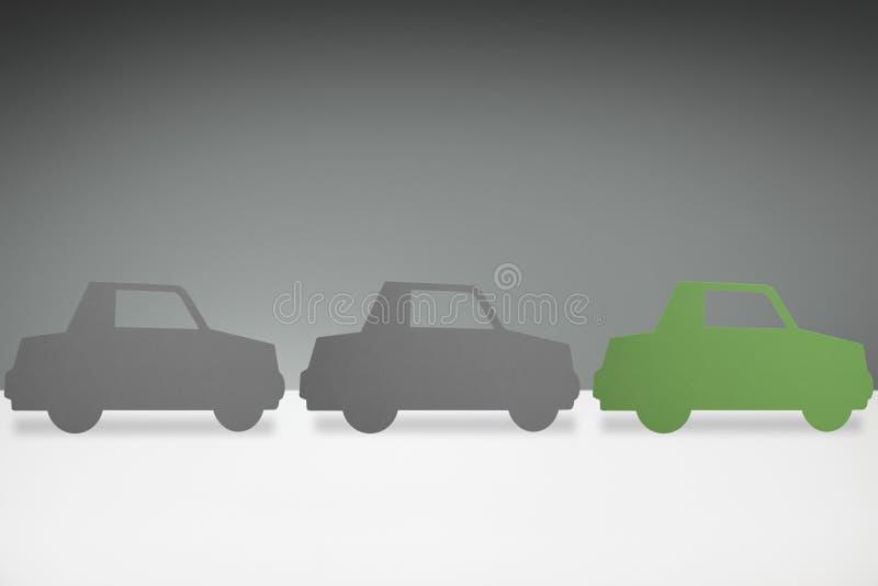 Зеленая концепция автомобиля бесплатная иллюстрация