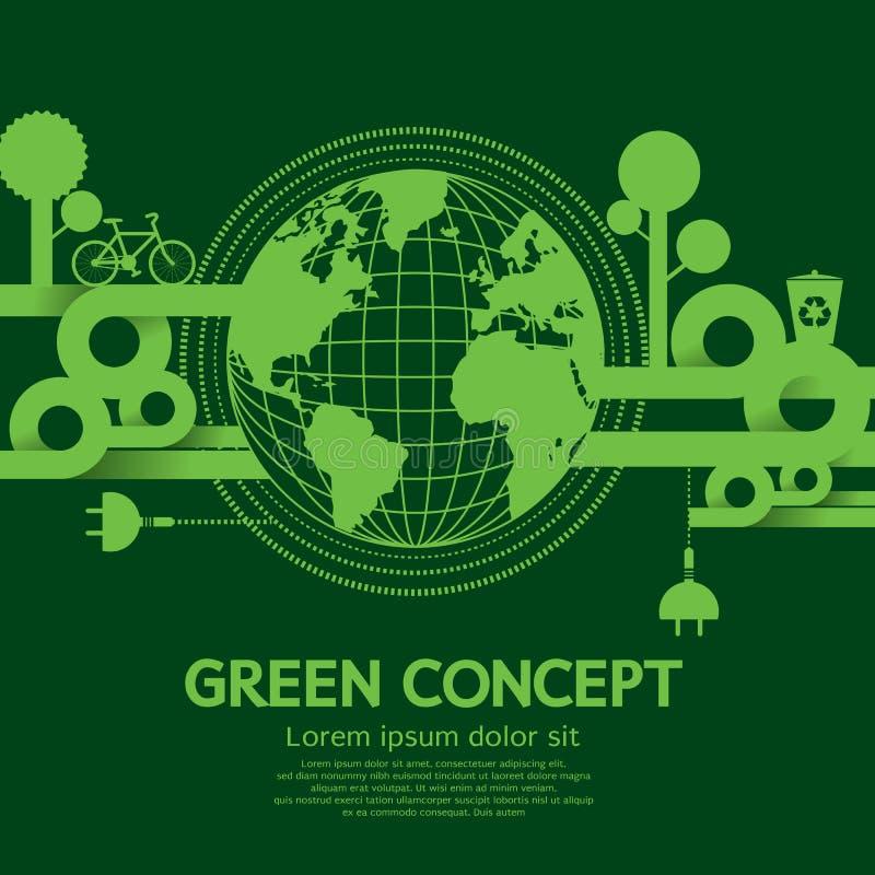 Зеленая концепция иллюстрация штока