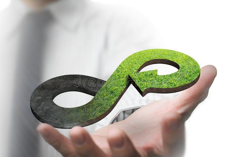 Зеленая круговая концепция экономики стоковая фотография rf