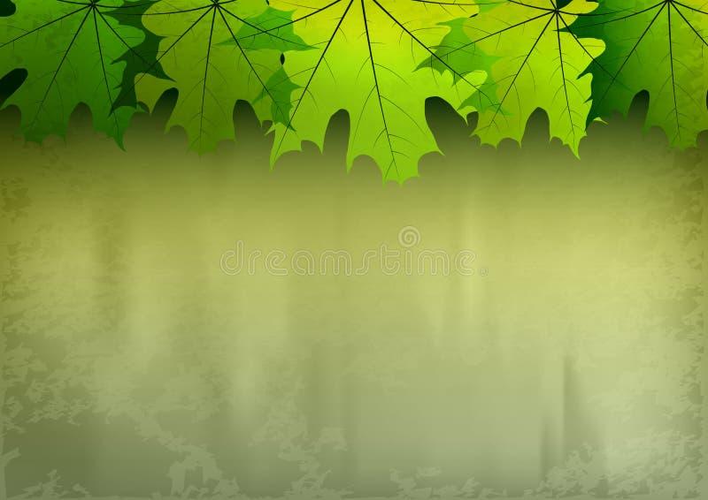 Зеленая осень иллюстрация вектора