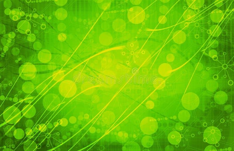 Зеленая предпосылка конспекта технологии медицинской науки футуристическая стоковое фото