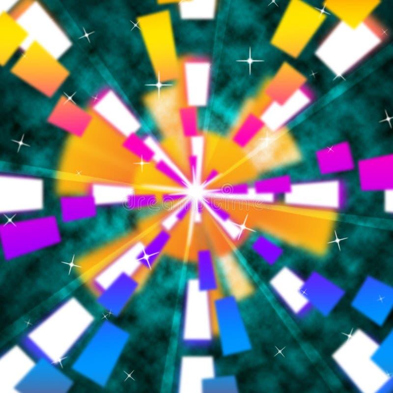 Зеленая предпосылка Солнця значит свет лучей и flares иллюстрация вектора