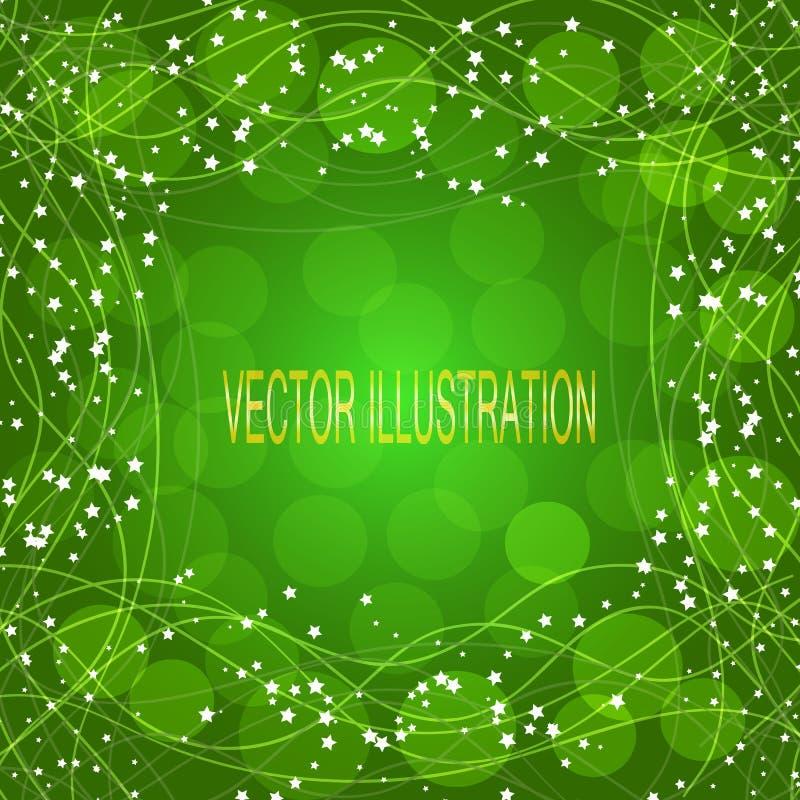 Зеленая предпосылка с границей также вектор иллюстрации притяжки corel иллюстрация штока