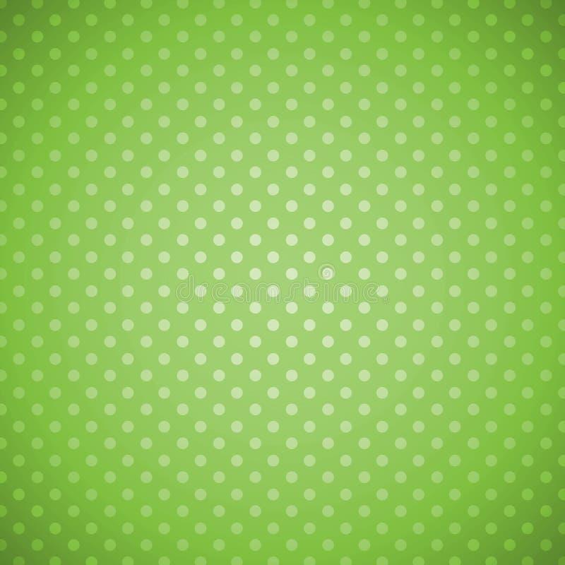 Зеленая предпосылка точек польки grunge иллюстрация штока
