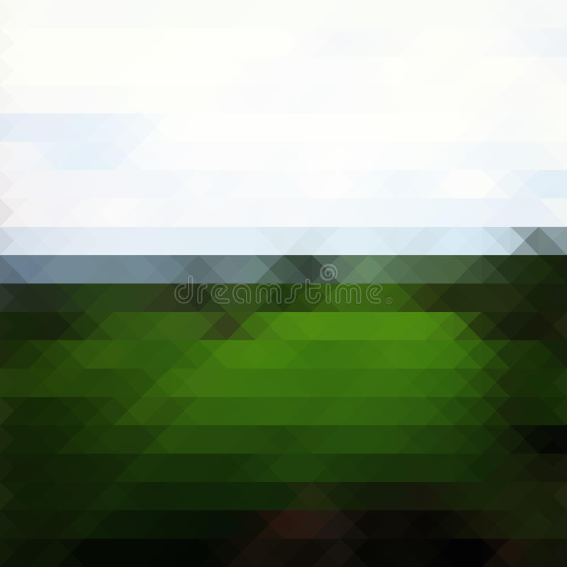 Зеленая предпосылка треугольника ландшафта иллюстрация вектора