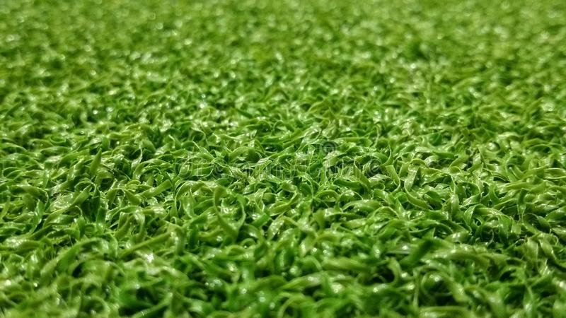 Зеленая предпосылка футбольного поля для играть футбол стоковые изображения rf