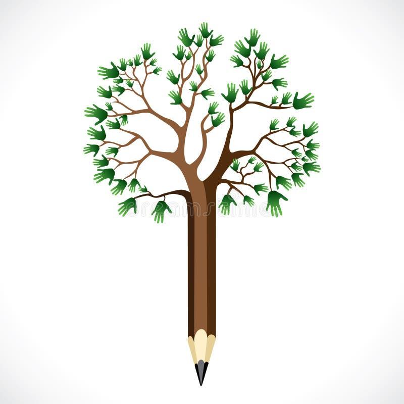 Дерево руки иллюстрация штока