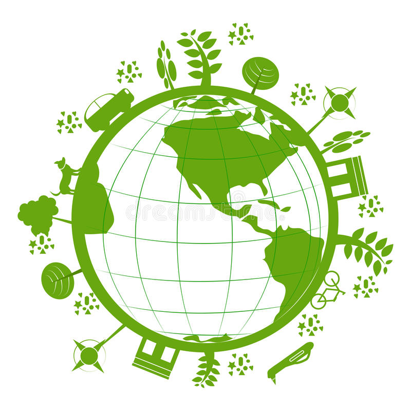 Зеленая планета иллюстрация вектора
