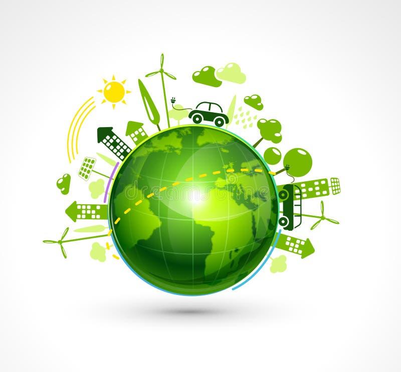 Зеленая планета eco бесплатная иллюстрация