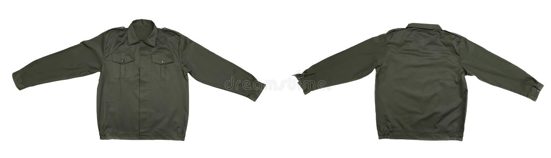 Зеленая работая куртка. стоковое изображение