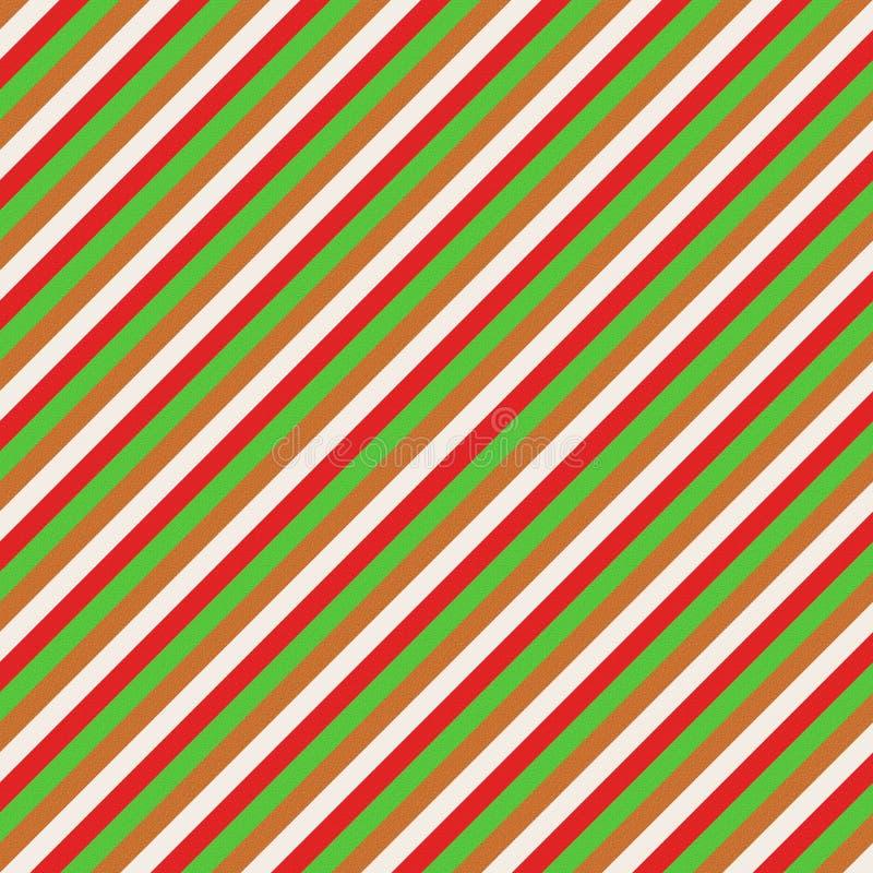Зеленая рождества красная и коричневая картина стоковые изображения