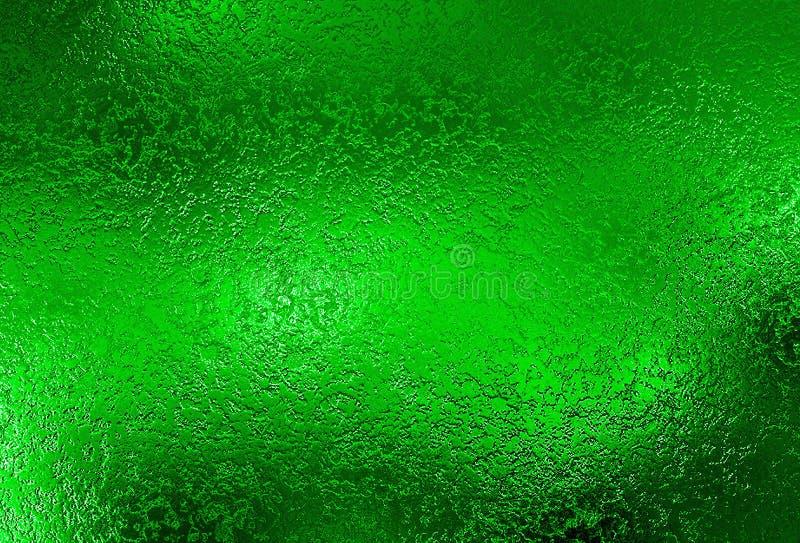 Зеленая серебряная предпосылка Текстура фольги металла декоративная стоковая фотография