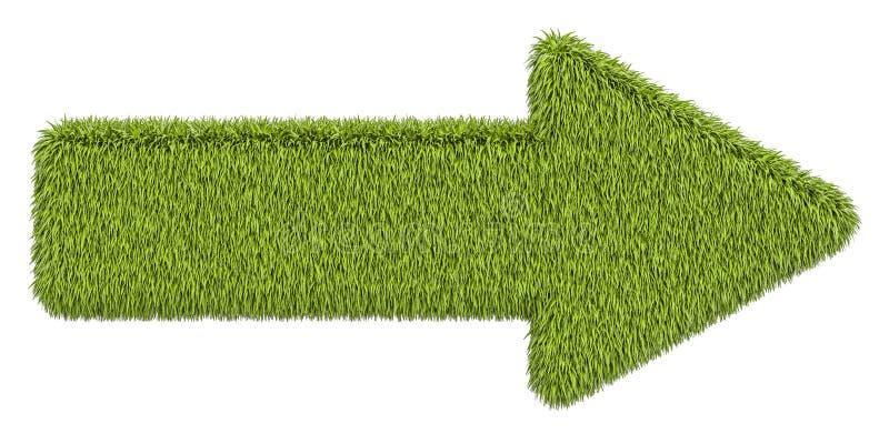 Зеленая стрелка от травы, перевода 3D иллюстрация вектора