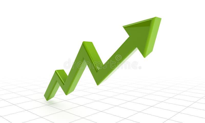 Зеленая стрелка успеха на решетках бесплатная иллюстрация