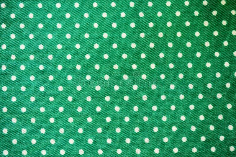 Зеленая ткань точки польки стоковое изображение rf