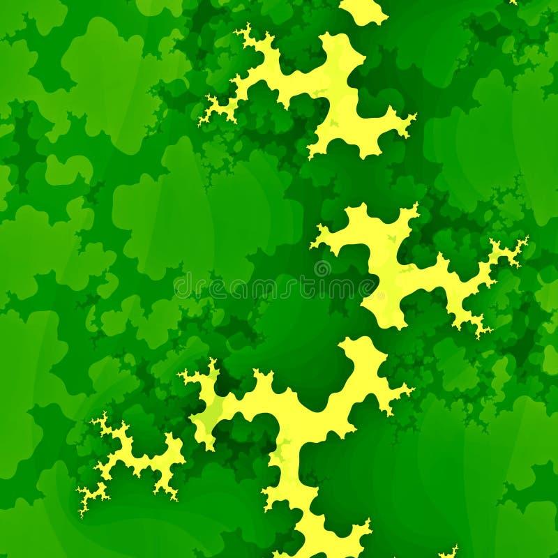 Зеленая фракталь или облака леса Творческая абстрактная концепция Предпосылка Grunge Уникально дизайн иллюстрации цифров изображе иллюстрация вектора