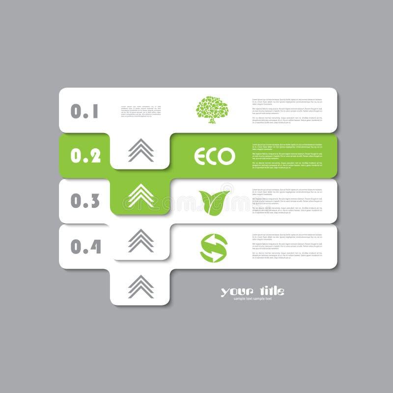 Зеленая экологичность infographic иллюстрация штока