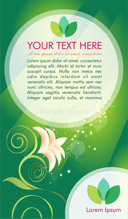 Зеленая envirronmental брошюра vektor бесплатная иллюстрация