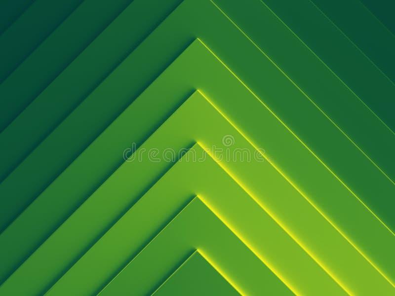 Зеленое геометрическое абстрактное фоновое изображение иллюстрация штока