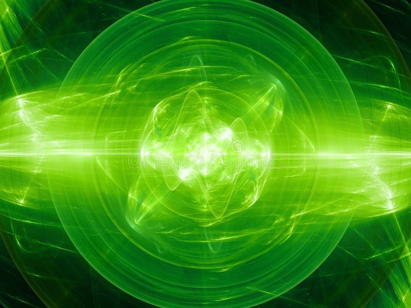 Зеленое накаляя сплавливание с полем силы плазмы бесплатная иллюстрация