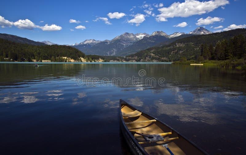 Зеленое озеро, ДО РОЖДЕСТВА ХРИСТОВА, Канада стоковые фотографии rf
