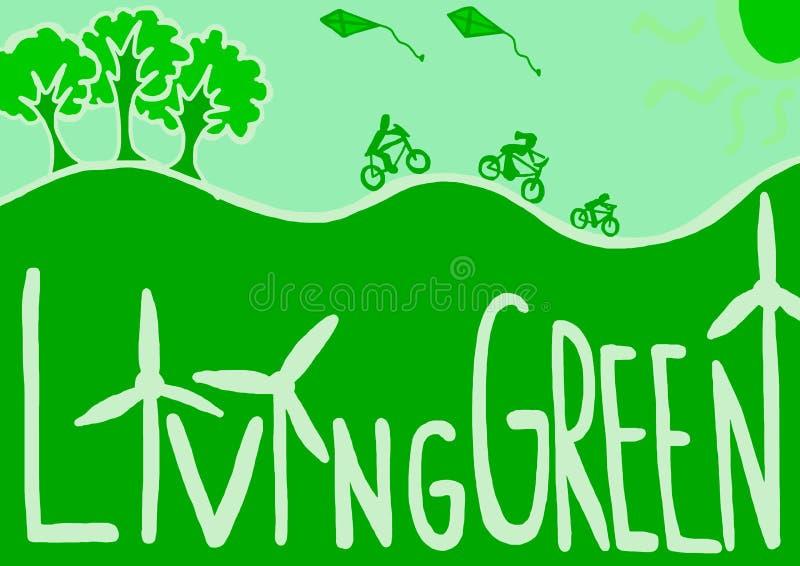 зеленое прожитие иллюстрация вектора