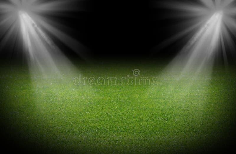 Зеленое футбольное поле стоковые фотографии rf