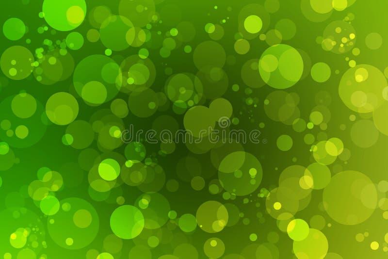 Зеленое bokeh и зеленая предпосылка стоковые изображения rf