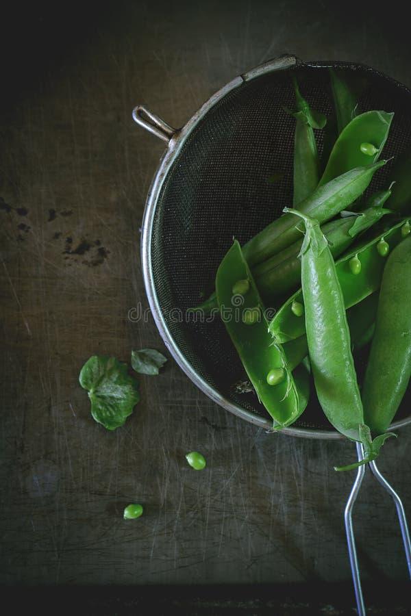 зеленые горохи молодые стоковые изображения rf