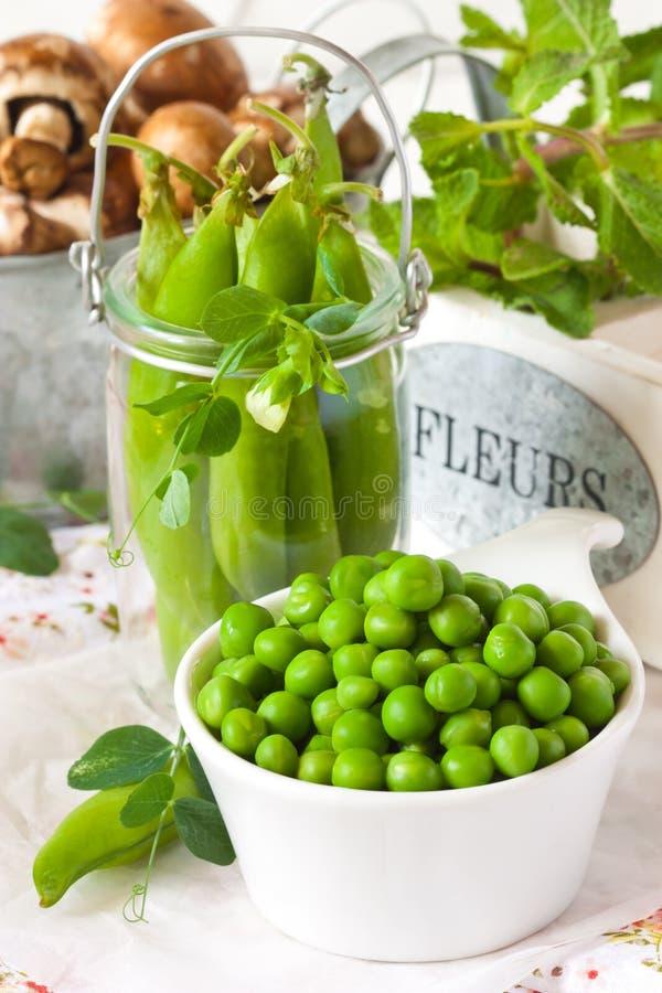 Зеленые горохи стоковая фотография rf