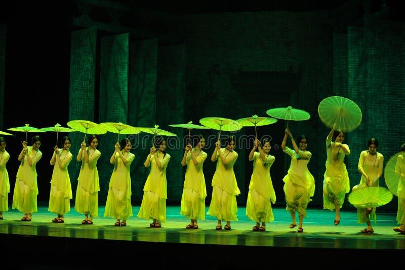 Зеленые леты- во-вторых поступка событий драмы-Shawan танца прошлого стоковые изображения rf