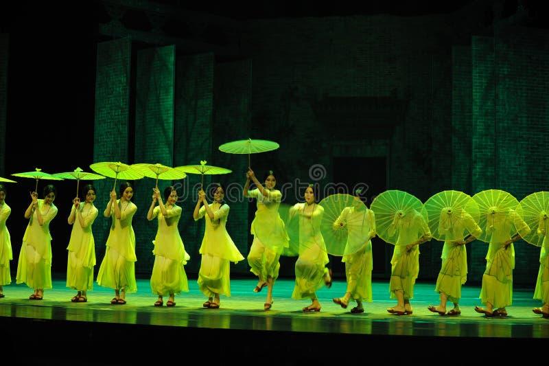 Зеленые леты- во-вторых поступка событий драмы-Shawan танца прошлого стоковое изображение rf