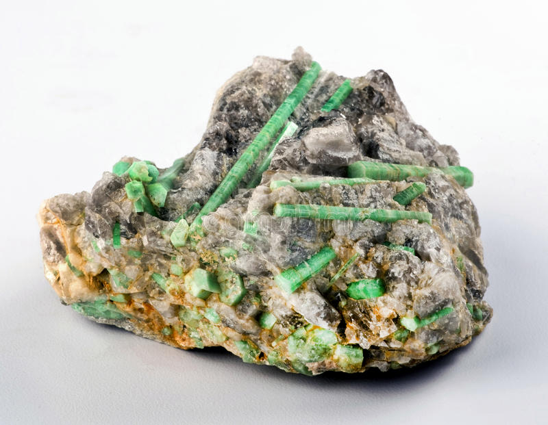 Зеленые изумруды стоковая фотография rf